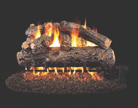 Real Fyre Rustic Oak Designer Vented Gas Logs (HRD-42), 42-Inch