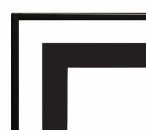 Empire 1 1/2-inch Matte Black Beveled Front for Boulevard 72