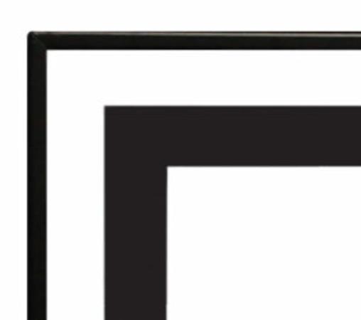 Empire 1 1/2-inch Matte Black Beveled Front for Boulevard 72