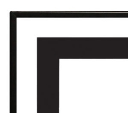 Empire Black Beveled Front 1 1/2-inch For Boulevard 48 Linear Fireplace