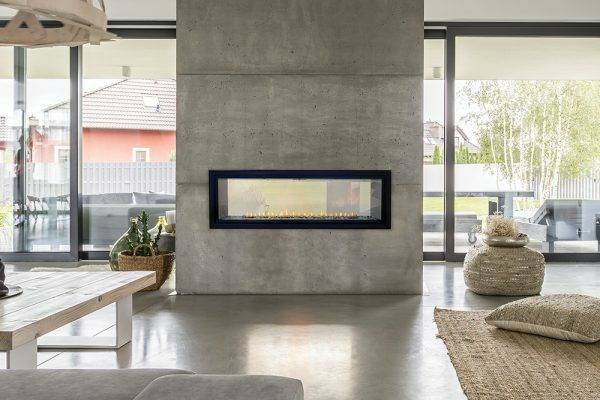 Empire Boulevard 48″ Vent-Free Linear See-Through Fireplace with Remote Control