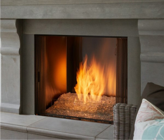 Majestic Contemporary Hearth Kit for use with glass media