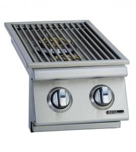Bull double side burner lid open