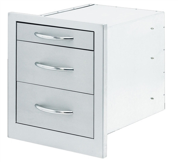 Cal Flame 3-Drawer Storage Wide