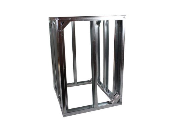"DIY BBQ 2ft Straight Modular Frame Section 36"" Standard Height"
