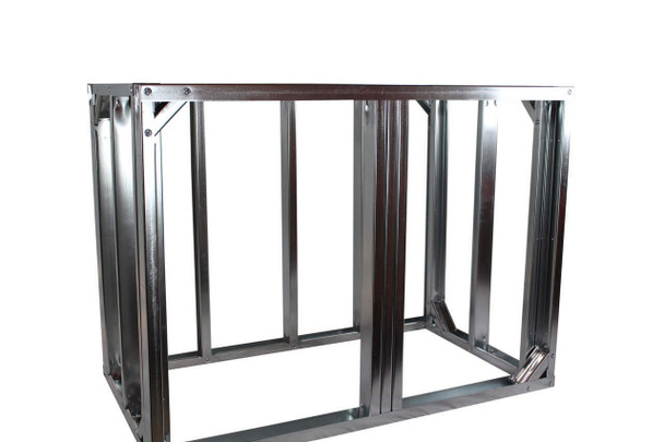 "DIY BBQ 4ft Straight Modular Frame Section 36"" Standard Height"