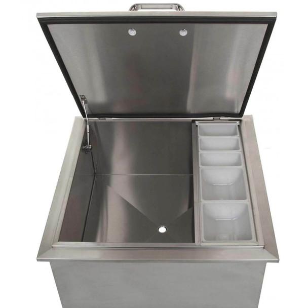 DIY BBQ 24 X 24 Inch Drop In Ice Bin **Lifetime Warranty**