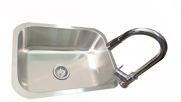 RCS Stainless Undermount Sink and Faucet Set