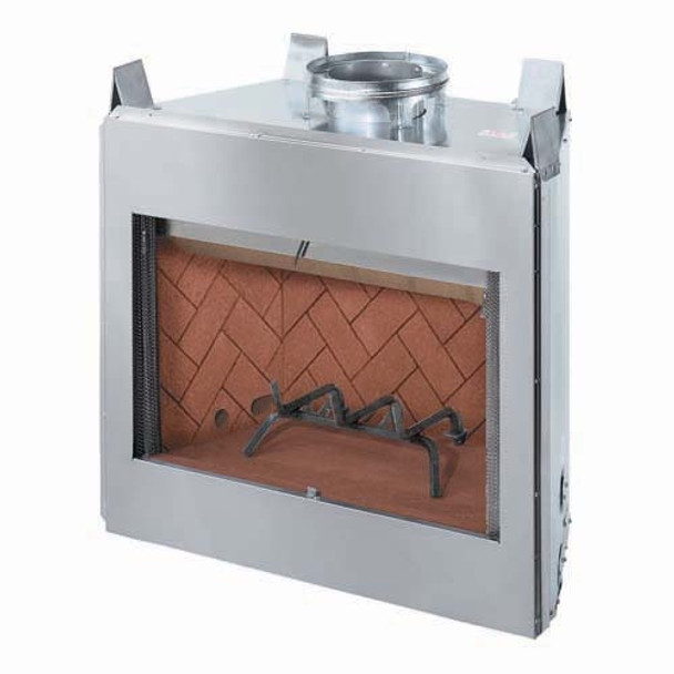 """Stainless Steel 36"""" fireplace insert"""