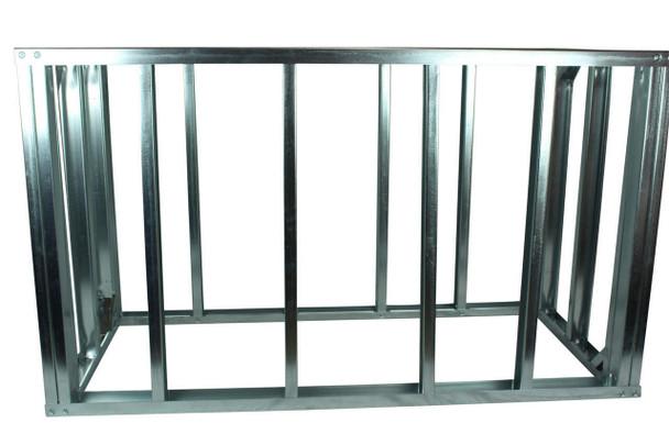 "DIY BBQ Quick Panel™ 5ft Straight Modular Frame Section 36"" Standard Height"