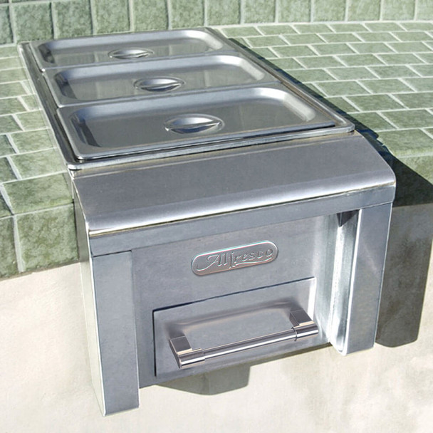 "Alfresco 14"" Built-In Food Warmer"