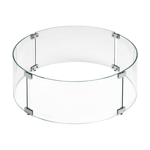 American Fireglass Round Glass Flame Guard for Drop-In Fire Pit Pan