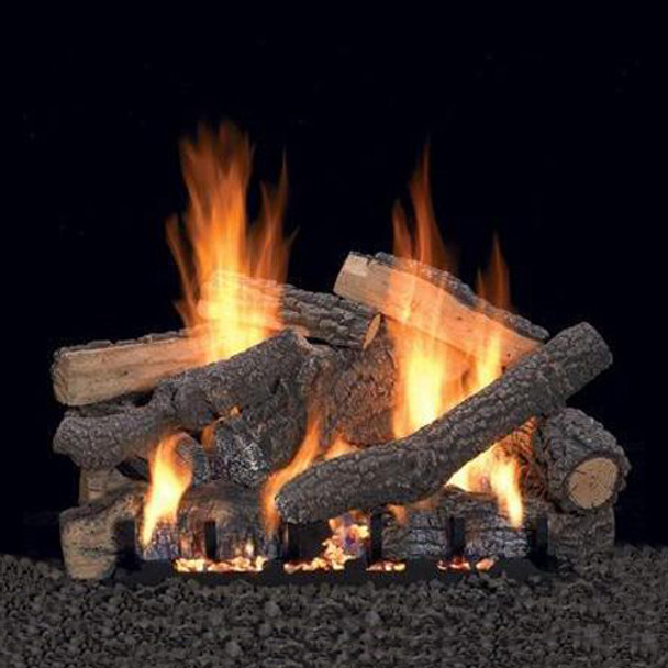 Empire Vent Free Ponderosa Gas Log Set With Slope Glaze Burner and Electronic Variable Remote