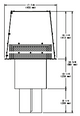 Majestic TS345P Square Termination Cap - 8 Inch Diameter