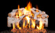 Real Fyre Charred Mountain Birch Vented Gas Logs (CHMBW-30), 30-Inch