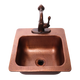 RCS Copper Bar Sink & Faucet 15 x 15 -16 Gauge Copper Sink-Hot & Cold Water