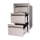 RCS Valiant Stainless  Paper Towel Holder/2 Drawer Combo-Enclosed