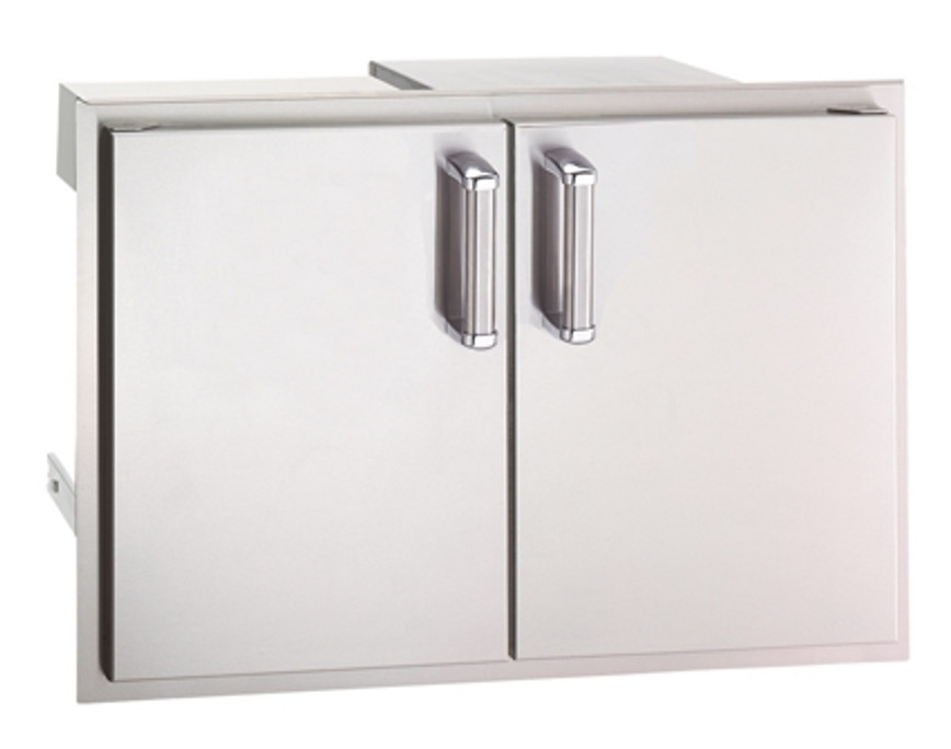Fire Magic Premium 30-Inch Double Access Door With Drawers And Trash Bin Storage