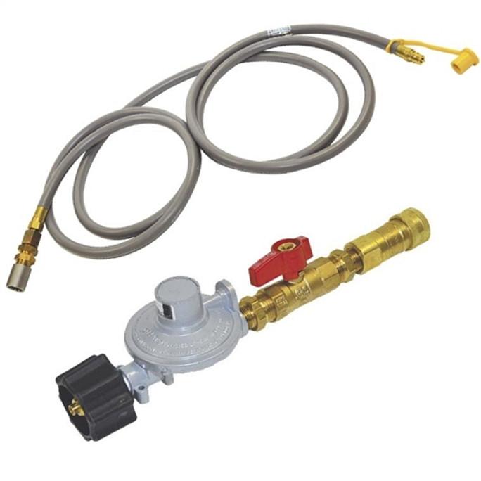 American Fireglass Propane Regulator, Ball Valve, Quick Connect, Hose and Air Mixer