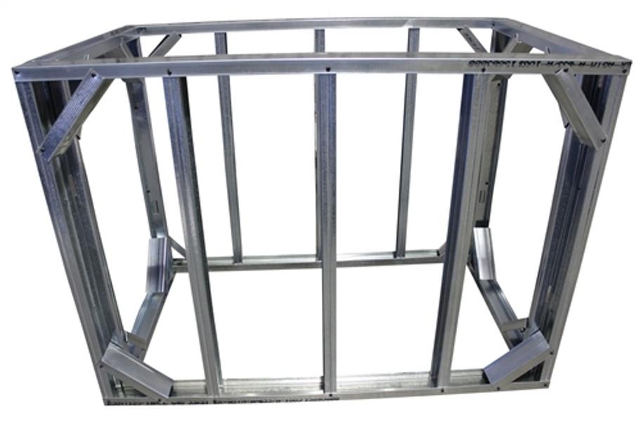 "DIY BBQ 3ft Straight Modular Frame Section 42"" Bar Height"