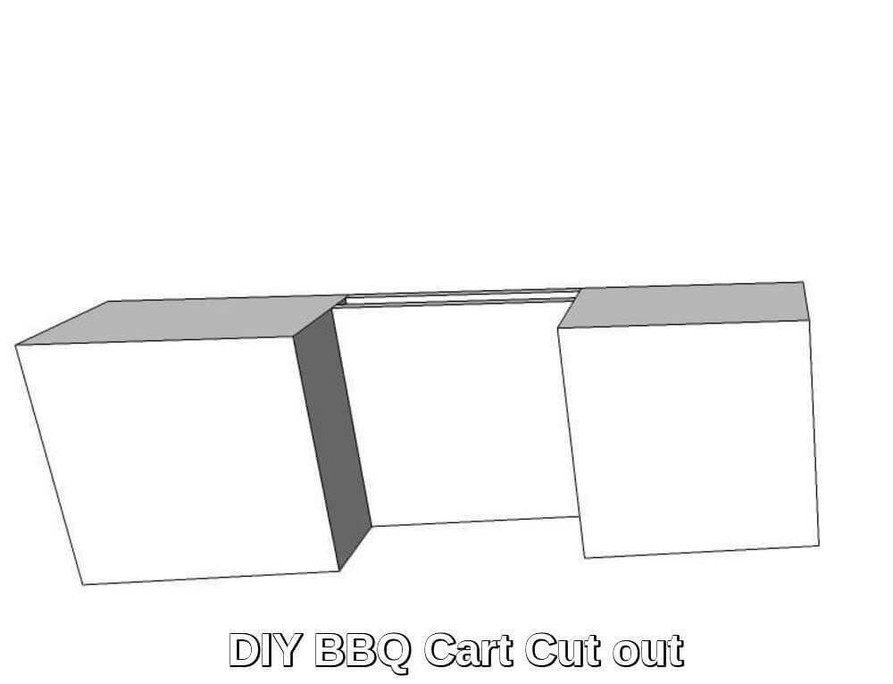 DIY BBQ Grill Cart (roll in) Cut Out Kit (DIY-BBQ-Cart)