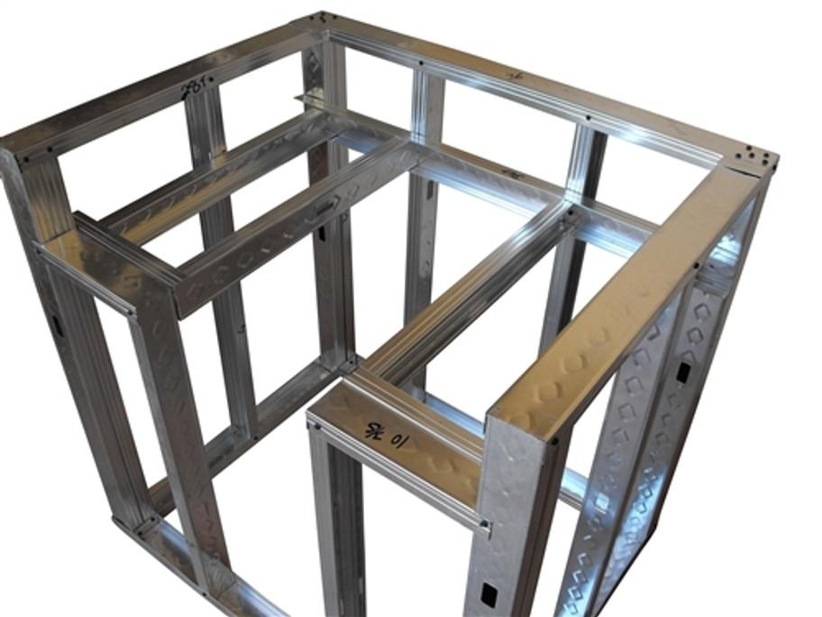 "DIY BBQ 36"" Drop-Down Burner Module Frame Section"
