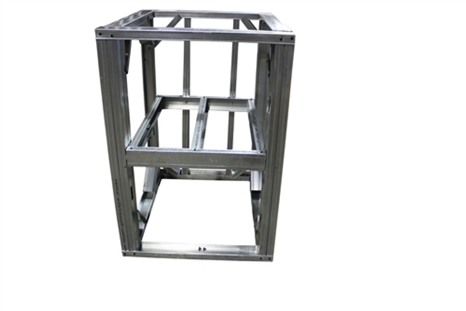 "DIY BBQ 3ft Open Shelf Modular Frame Section 36"" Standard Height"