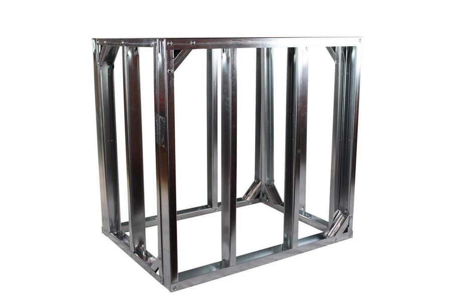 "DIY BBQ 3ft Straight Modular Frame Section 36"" Standard Height"
