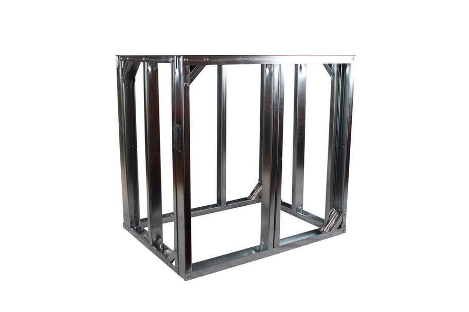 "DIY BBQ 30"" Straight Modular Frame Section 36"" Standard Height"