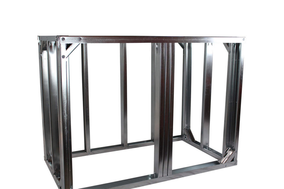 "DIY BBQ 4ft Straight Modular Frame Section 36"" Standard Height"