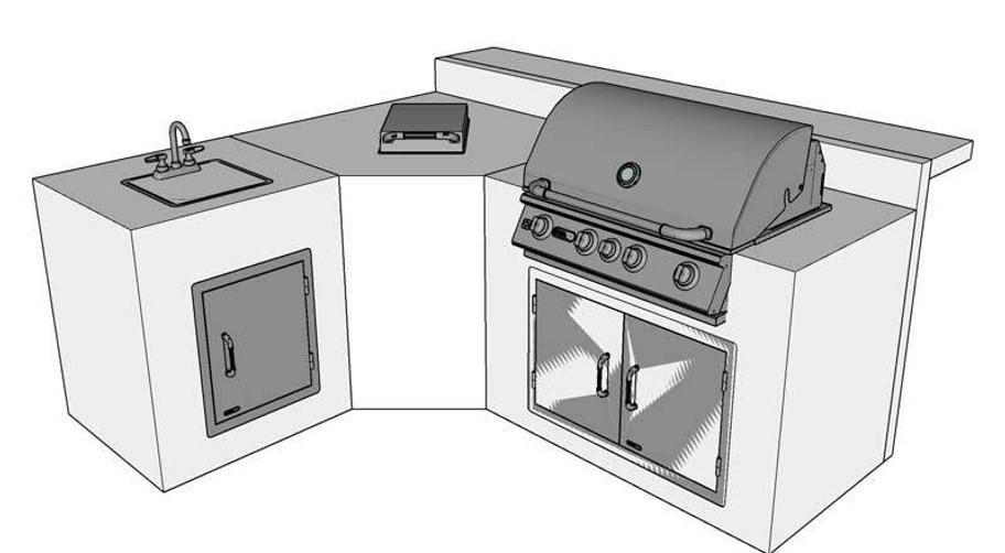 DIY BBQ Bull L Island kit (DIYBBQ-Avanti)