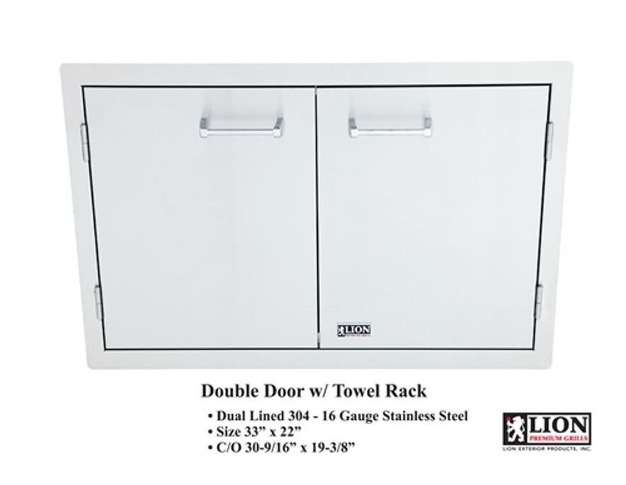 Lion Double Door with Towel Rack