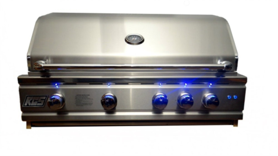 """RCS RON38a 38"""" Cutlass Pro Series Grill, Blue LED with Rear Burner (RON38a)"""