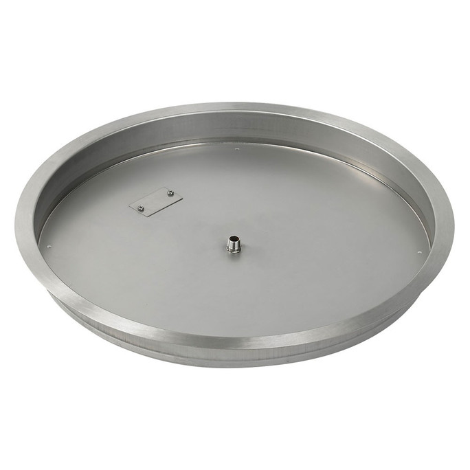 "American Fireglass 25"" Round drop-in Pan"