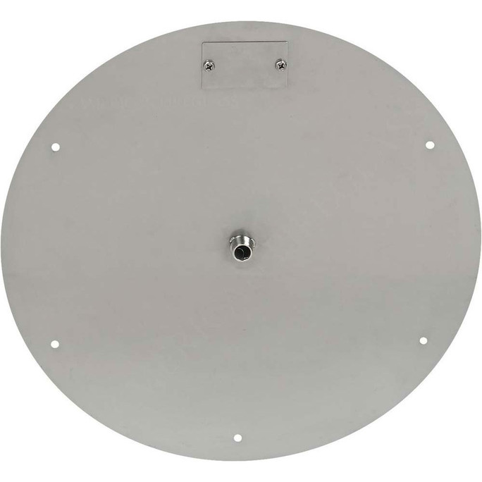 "American Fireglass 18"" Round Stainless Steel Flat Pan (1/2"" Nipple)"