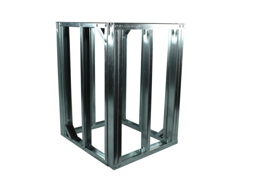 "DIY BBQ Quick Panel™ 2ft Straight Modular Frame Section 36"" Standard Height"