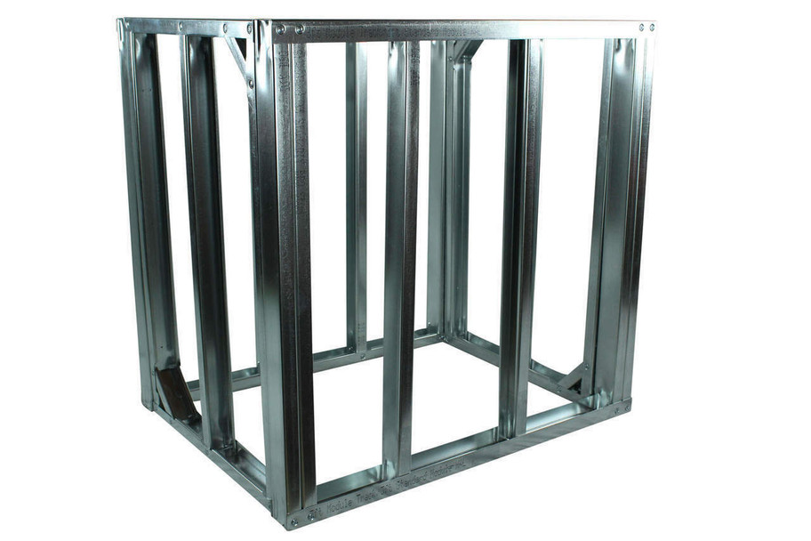 "DIY BBQ Quick Panel™ 3ft Straight Modular Frame Section 36"" Standard Height"