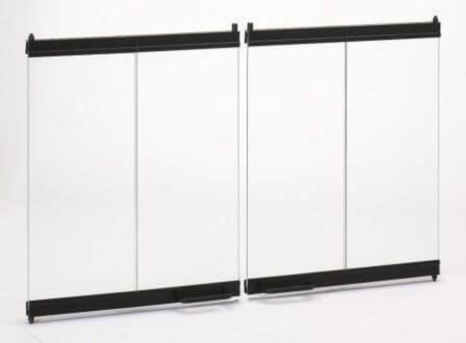 "36"" Bi-Fold Glass Doors for Woodburng Fireplace"