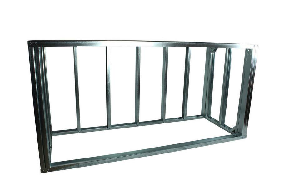 "DIY BBQ Quick Panel™ 6ft Straight Modular Frame Section 42"" Bar Height"