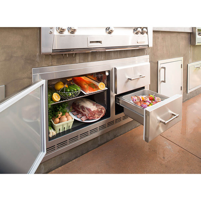 Alfresco Built In Under Grill Refrigerator