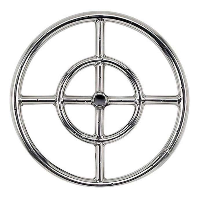 """American Fireglass Stainless Steel 12"""" Fire Pit Ring Burner"""