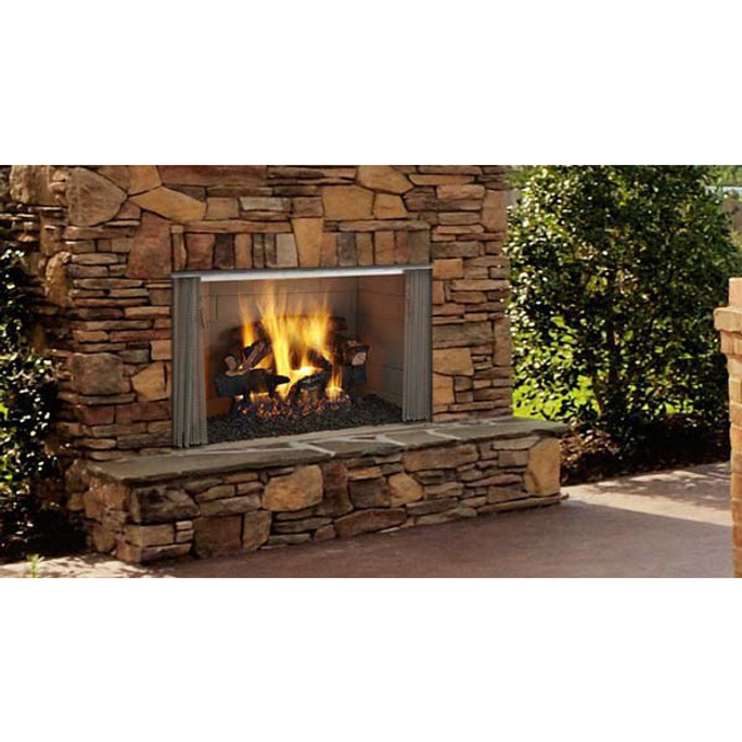 Majestic Villawood Outdoor Wood Burning Fireplace - 42 Inch