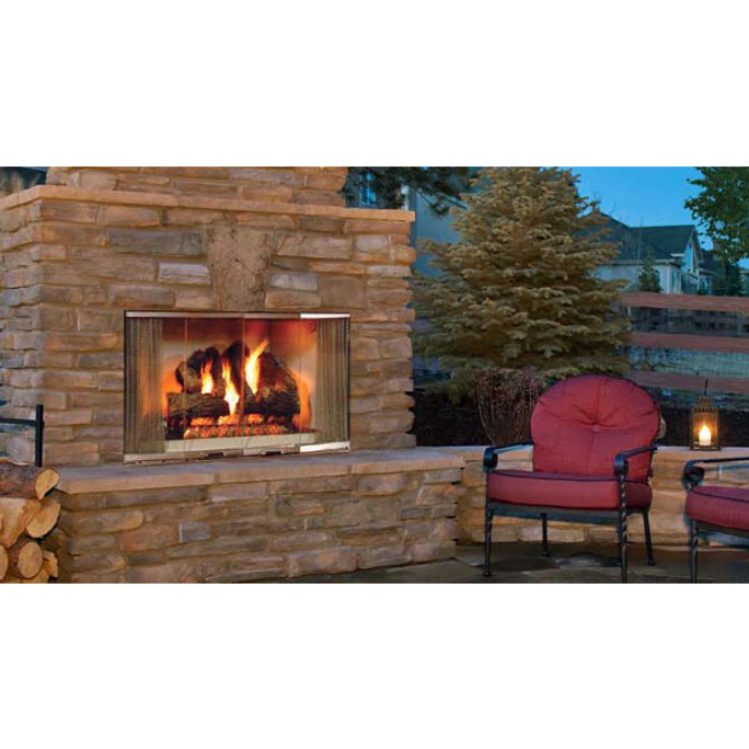 Majestic Montana Radiant Outdoor Wood Burning Fireplace - 42 Inch