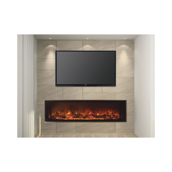 """Modern Flames  Landscape 60"""" X 15"""" Fullview Built In Electric Fireplace (Clean Face) LFV2-60/15-SH"""