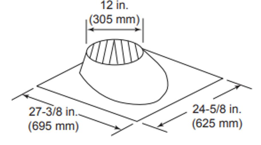 Majestic RF370 0/12 - 6/12 Pitch Roof Flashing
