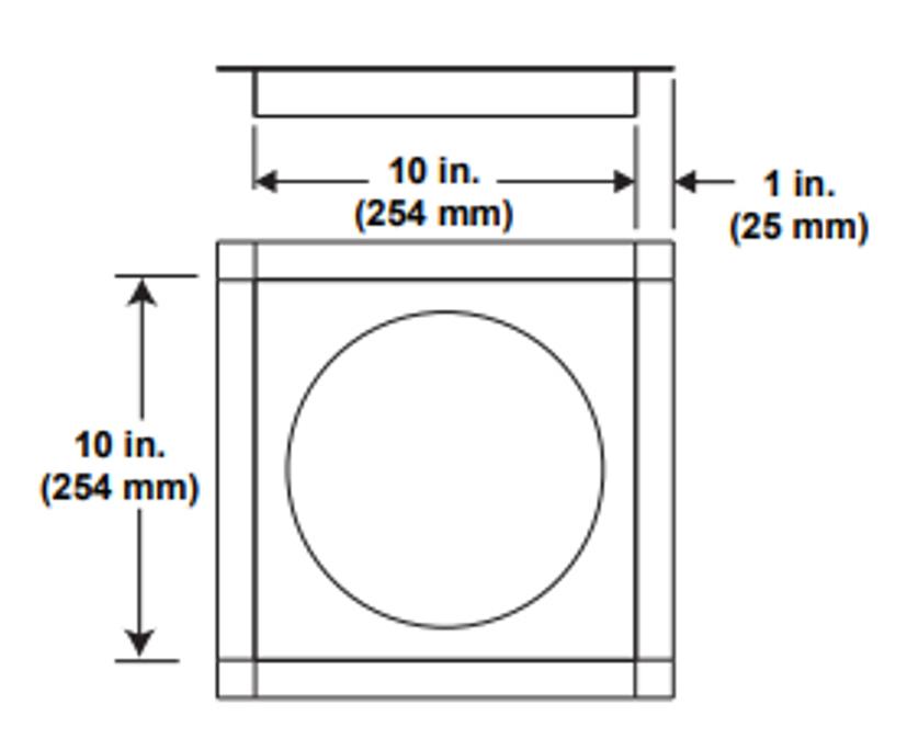 Majestic DVP-FS Ceiling Firestop - 5 Inch Diameter