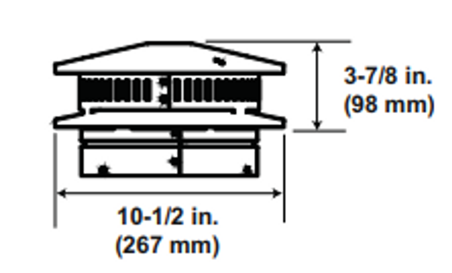 Majestic DVP-TV Vertical Termination Cap with Storm Collar