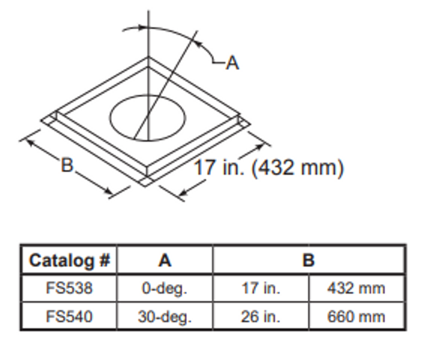 Majestic FS540 30 Degree Firestop Spacer - 11 Inch Diameter