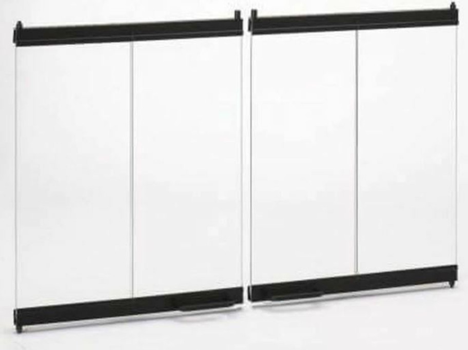 Majestic Bi-Fold Glass Doors with Black Trim for 42 - DM1242