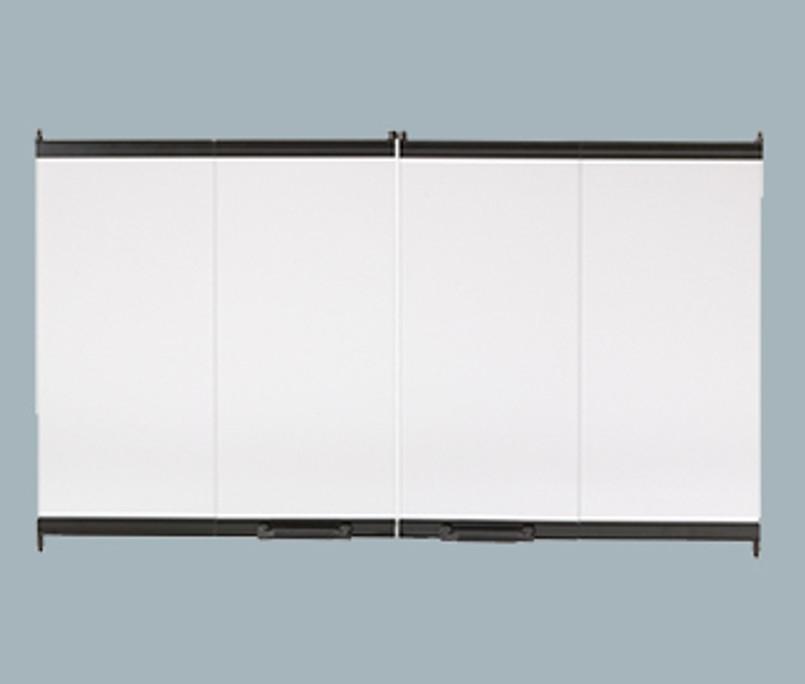 Majestic Bi-Fold Glass Doors with Black Trim for 36 - DM1736